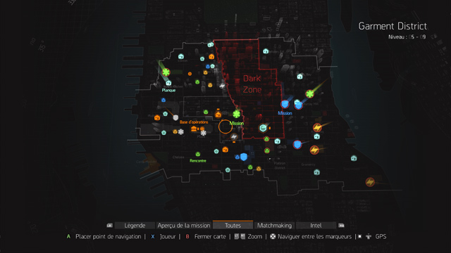 carte missions the division