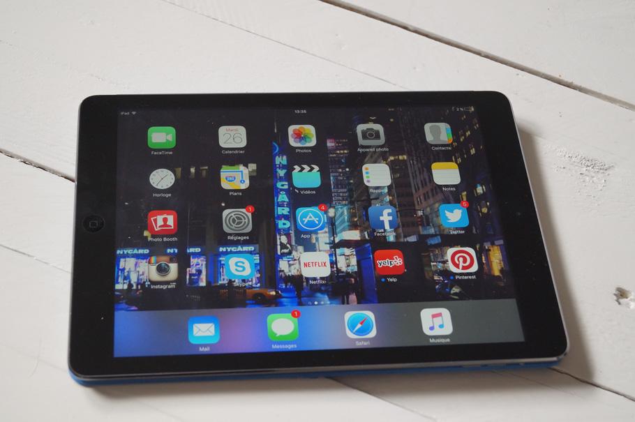 iPad objet high-tech en voyage