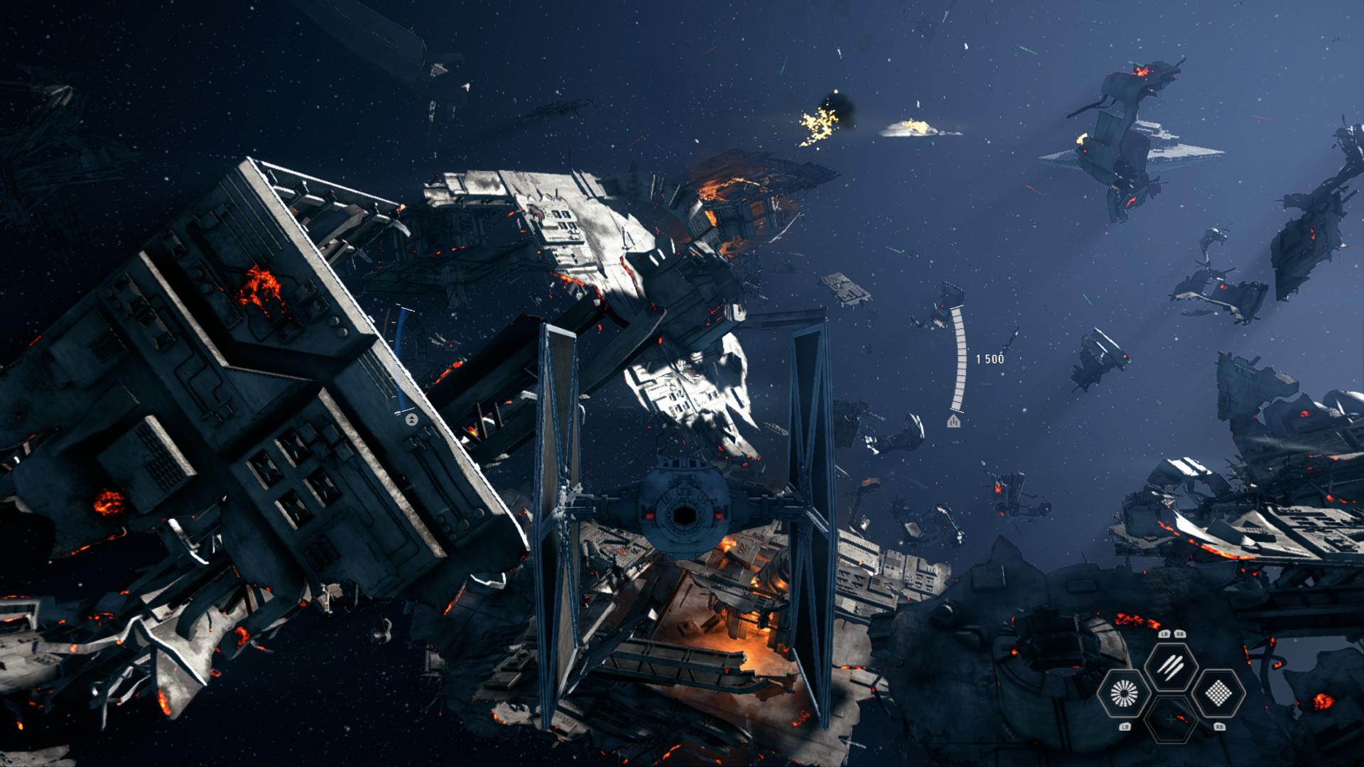 test star wars battlefront 2 combats spatiaux geeketc