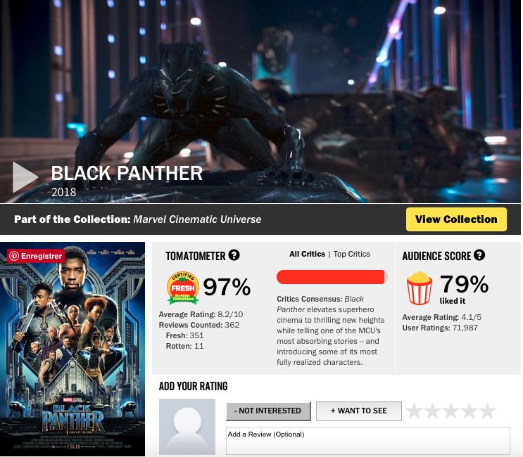 critiques black panther avis spectateurs