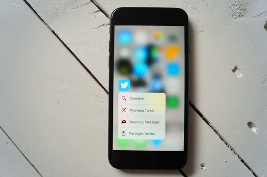 nouveauté iphone 7 3D touch