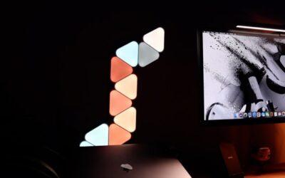 test nanoleaf mini triangles geeketc